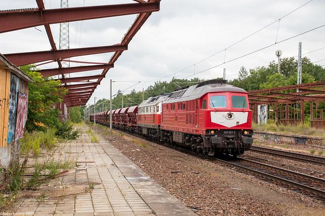 WFL 232 527+232 141+Schotterzug   Potsdam Pirschheide