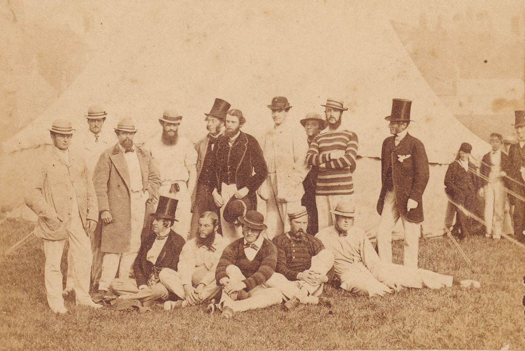 All-Ireland United Cricket team at Phoenix Park, Dublin, ca. 1858