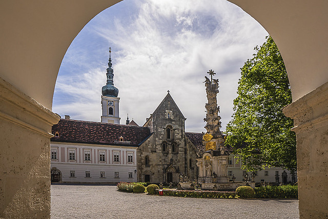 Inner courtyard of Heiligenkreuz Abbey