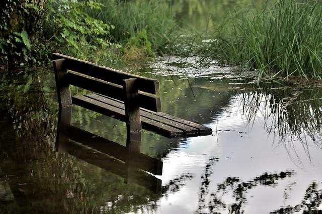 Banc pour bain de pieds. Lac de Bonlieu.