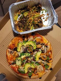 Pumpkin Pizza and Vegetables from Bella Venezia