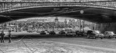 Traffic under the bridge/движение под мостом