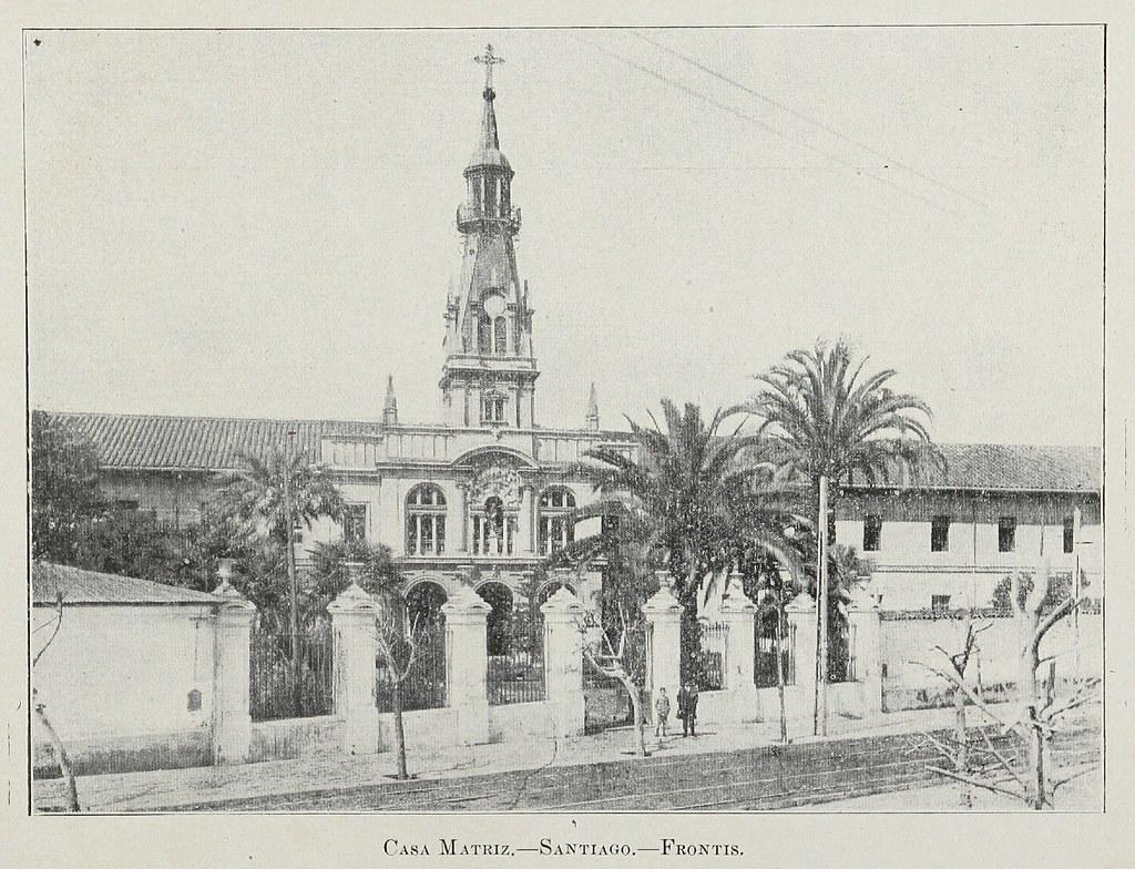 Casa Matriz de la Providencia, en Avenida Providencia, entre Salvador y Condell, año 1924.
