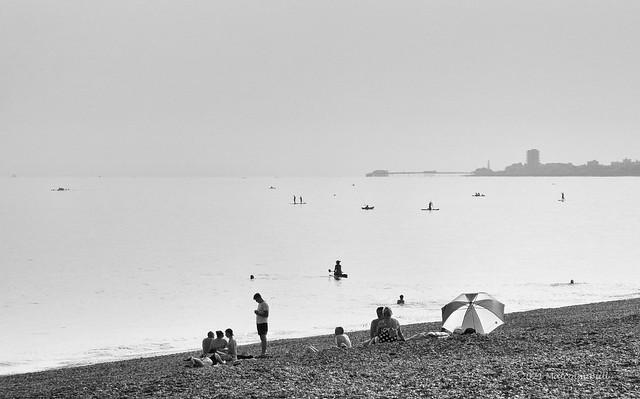 Hazy Evening - Shoreham Beach