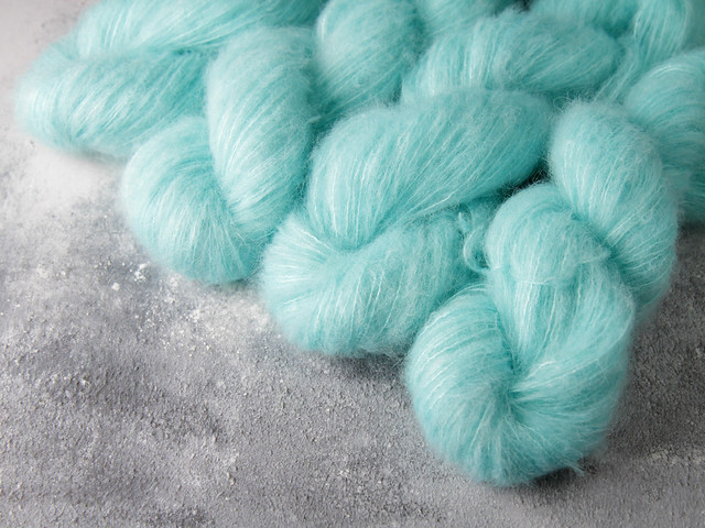 Fuzzy Lace – Brushed Baby Suri Alpaca & Silk hand dyed yarn 25g – 'Vapour'