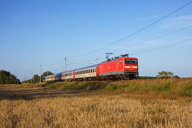WFL 112 166 + EN 300  Berlin Gesundbrunnen - Malmö Central + 223 054 (voor omleiding bij Rendsburg)  - Falkenhagen