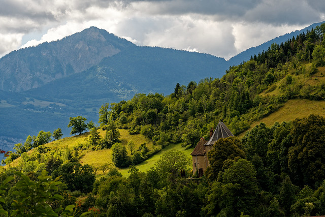 Little castle lost in the French Alps