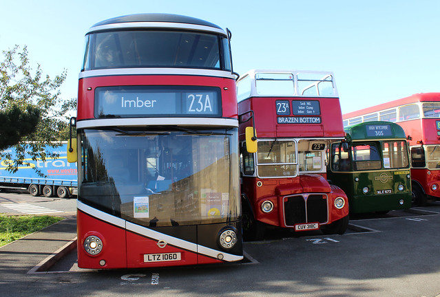 Contrasting Routemasters.