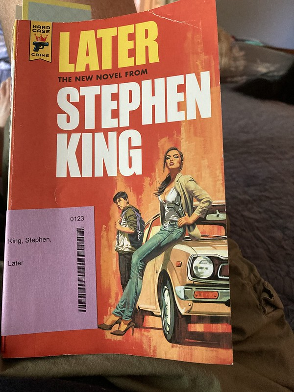 """Book Cover for """"Later"""" by Stephen King"""