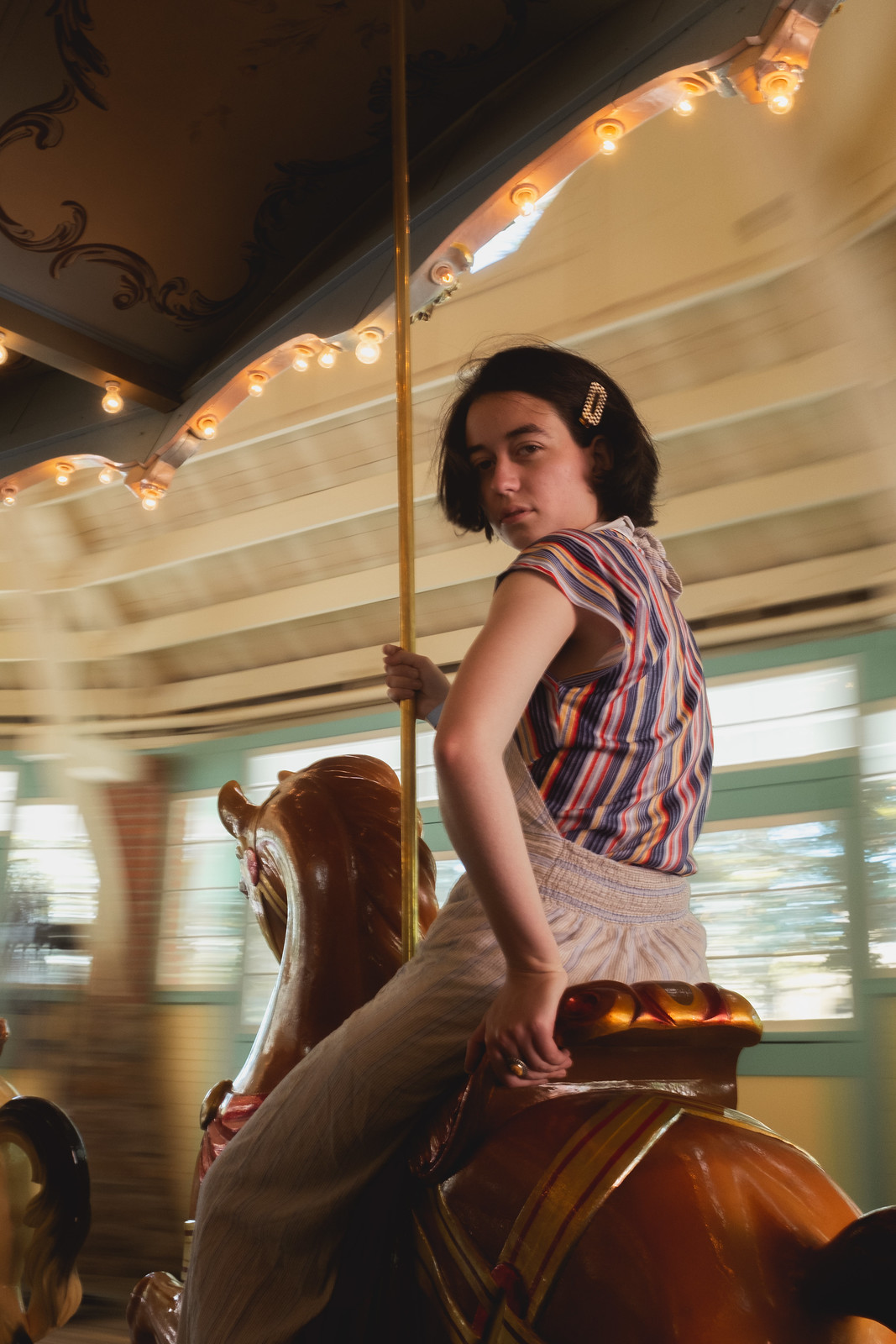 Zofie on the Carousel