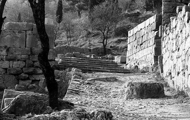 Sacred Way, Delphi  January 1974