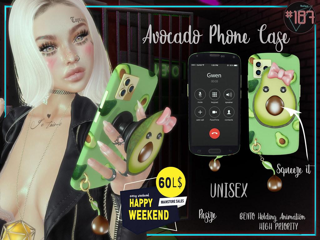 #187# Avocado Phone Case @ HAPPY WEEKEND