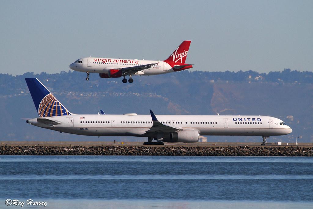 N529VA and N57857 at San Francisco