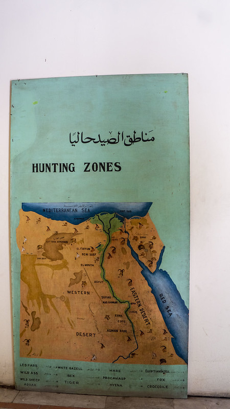 Egypt's hunting map from the 1960s