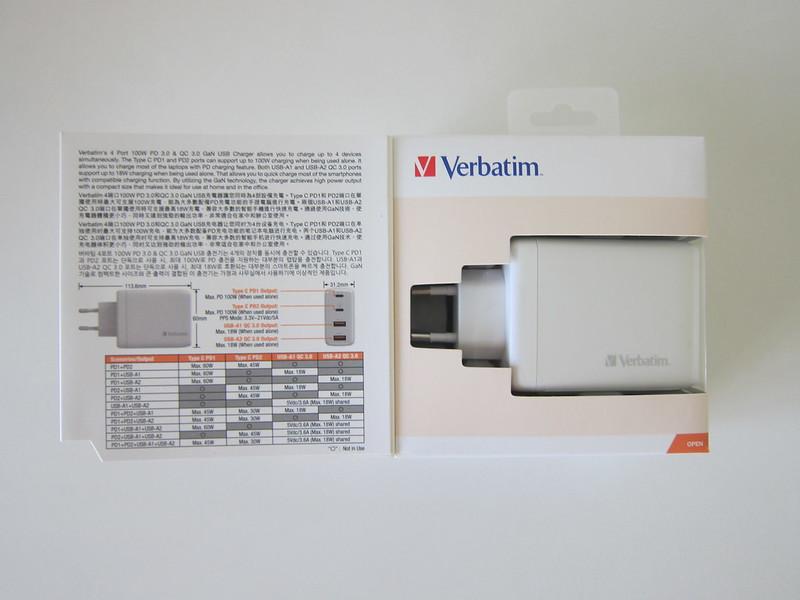 Verbatim 4-Port PD 100W Charger - Box Open