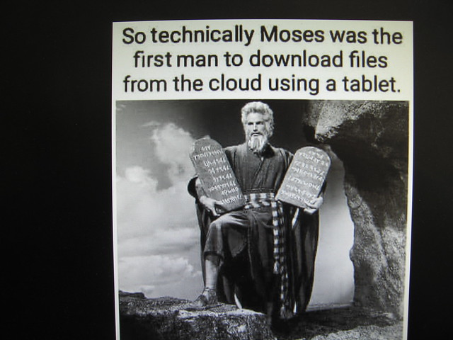 So technically Moses