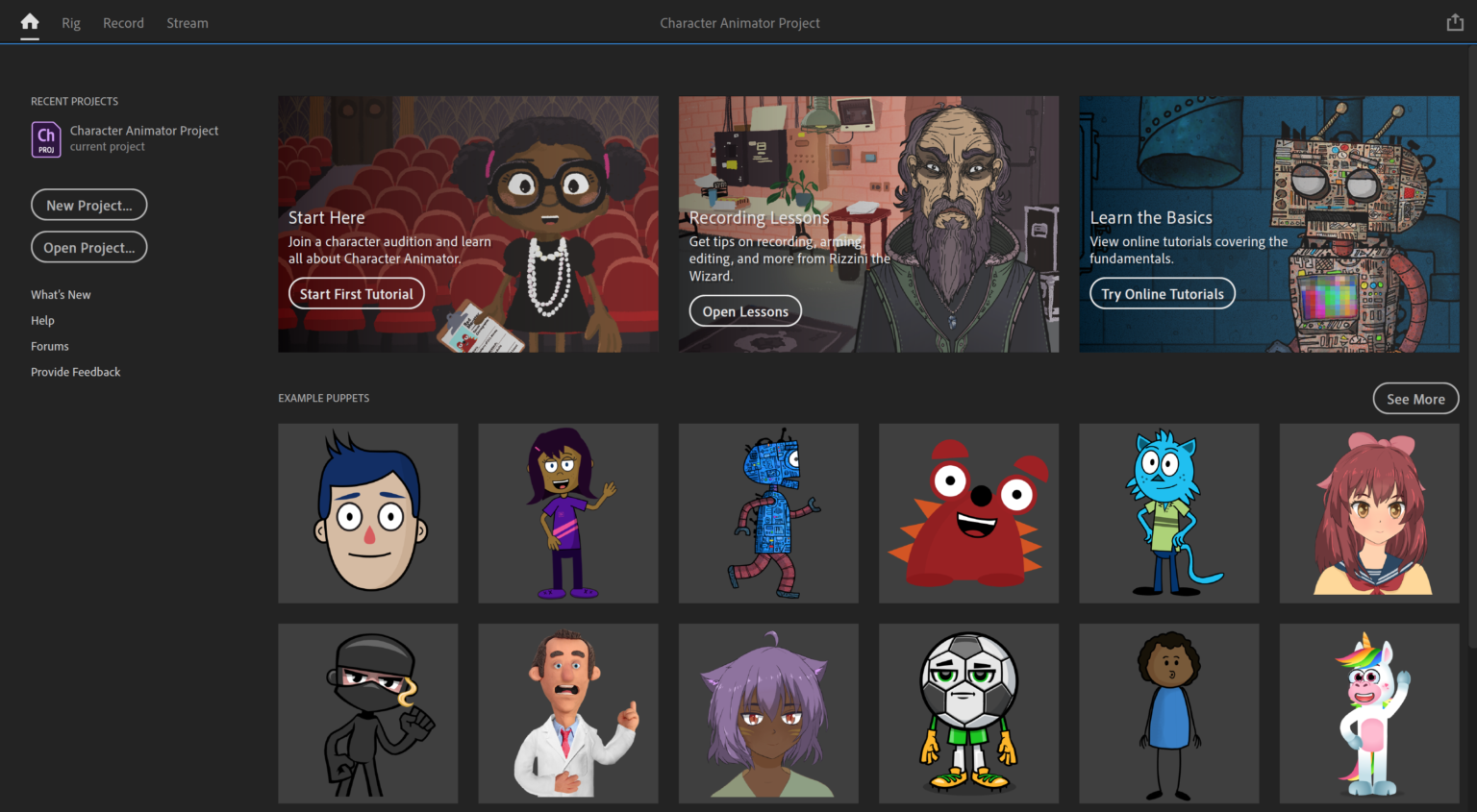 Working with Adobe Character Animator 2021 v4.4.0.44 full