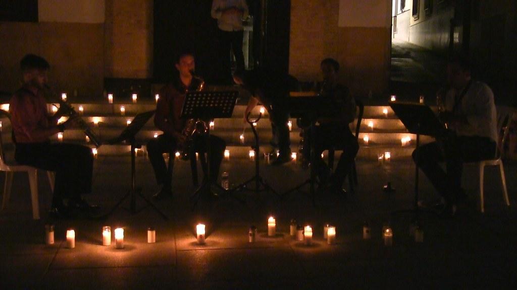 Concierto Cuarteto de saxo luz velas 2021