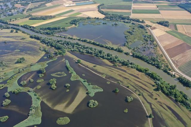 Monitoring územia rozvodnenej Moravy