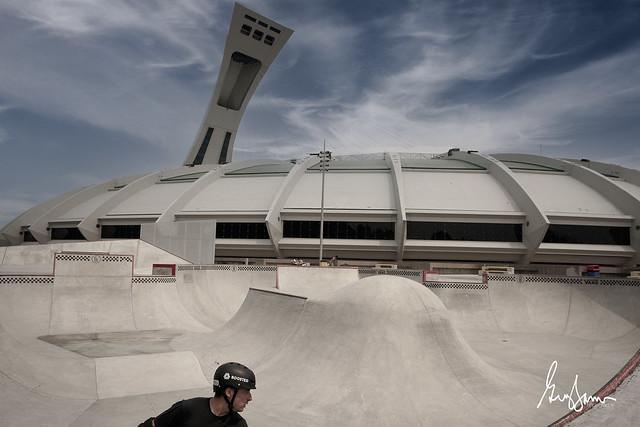 Guillaume et le stade olympique de Montréal