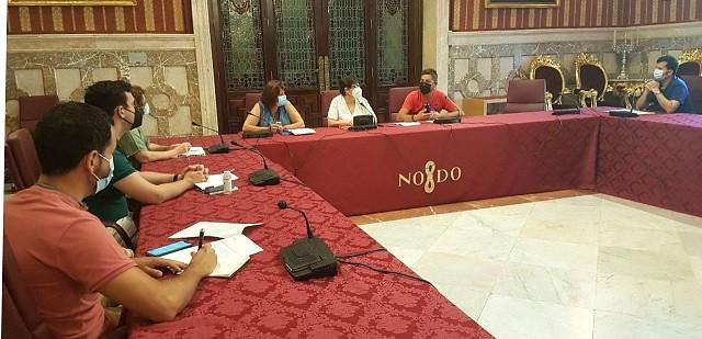 Foto CCOO. Reunión grupos municipales limpieza