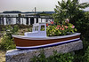 This miniature fishing vessel planted with flowers pays homage to the lobster industry some of whom operate out of Cape Porpoise, where this photo was taken.
