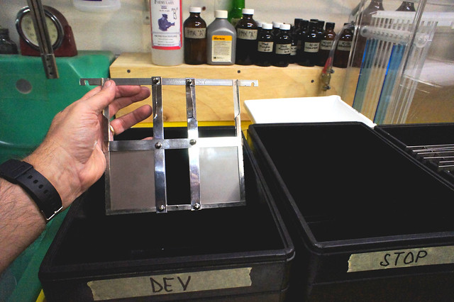 6.5x9 Dry Plate Developing Rack Hack from 5x7