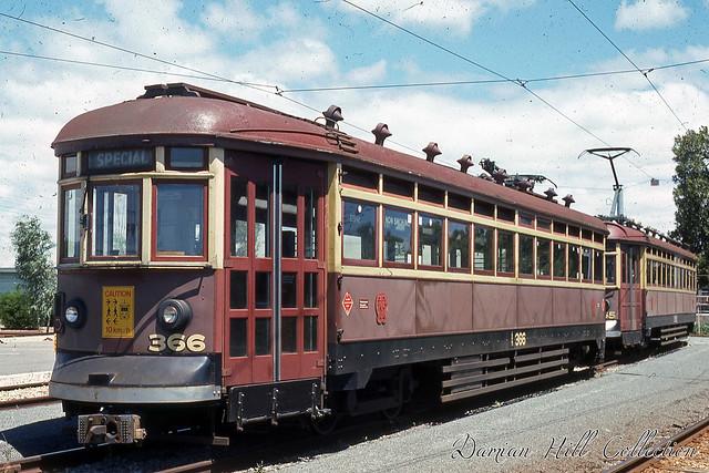 Glenelg Trams 366 & 365, Glengowrie Tram Depot