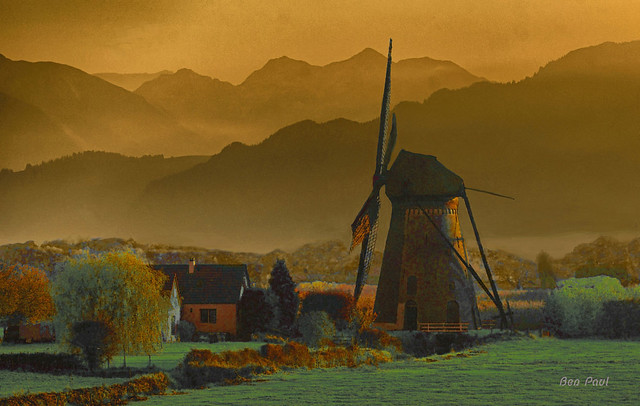 Ben Paul M334 Windmill in the mountains, 2019