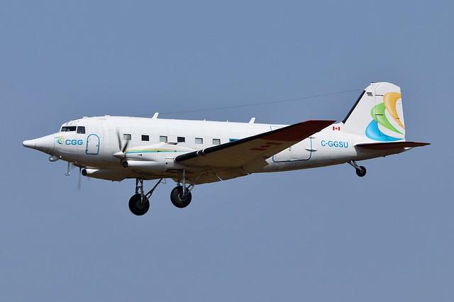C-GGSU DC-3/BT-67 at Belfast International Airport 21st July 2021