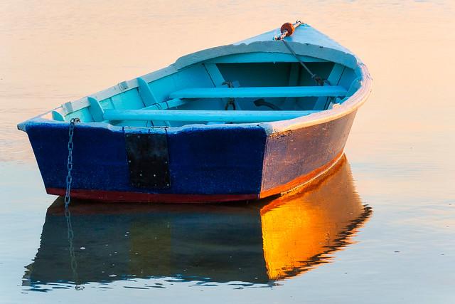 Row Boat Reflection