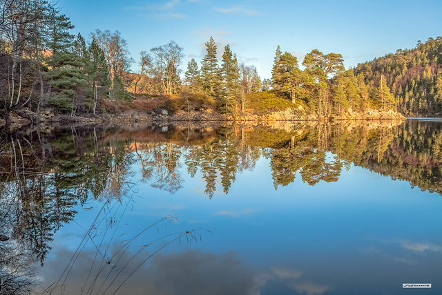 Nearing perfection. A superb moment at sunset in autumn in the majestic valley called Glen Affric, Inverness-shire, North-West Highlands, Scotland.