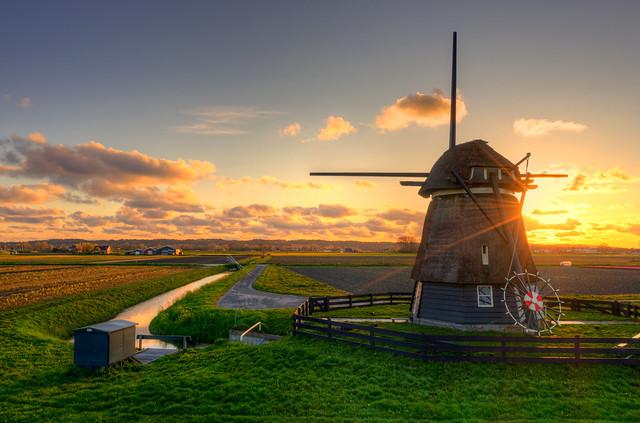 De Grebmolen, Warmenhuizen, Holland.