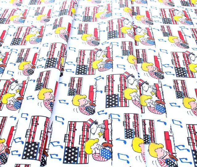 Springs Creative Peanuts Patriotic 73989G550715 Linus Snoopy