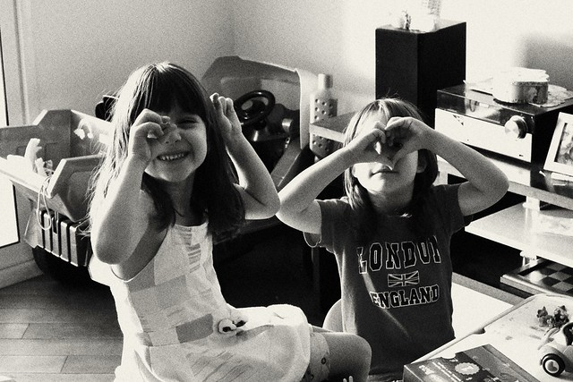 My little daughters in a candy moment