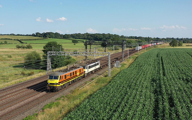 90014+90009, Lower Hatton, 19 July 2021