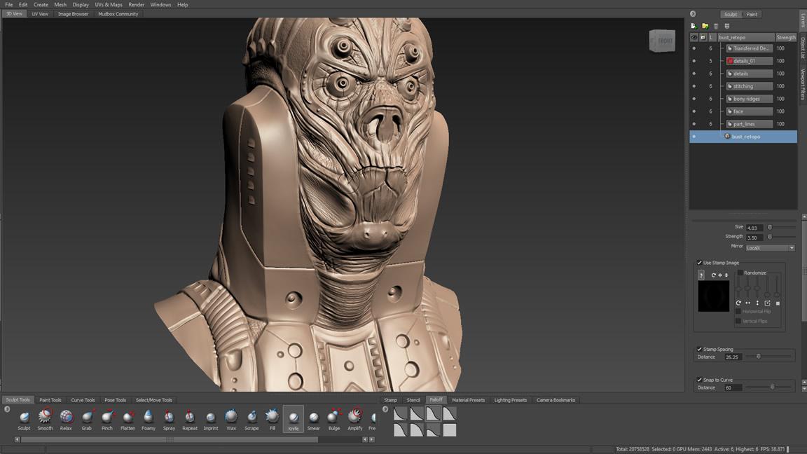Working with Autodesk Mudbox 2022 full
