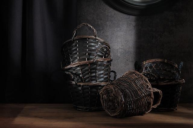 Waiting baskets.