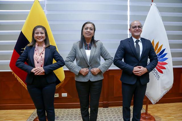 PRESIDENTA DE LA ASAMBLEA NACIONAL, GUADALUPE LLORI RECIBE AL SECRETARIO NACIONAL DE PLANIFICACIÓN JAIRON MERCHÁN. ECUADOR, 21 DE JULIO DEL 2021