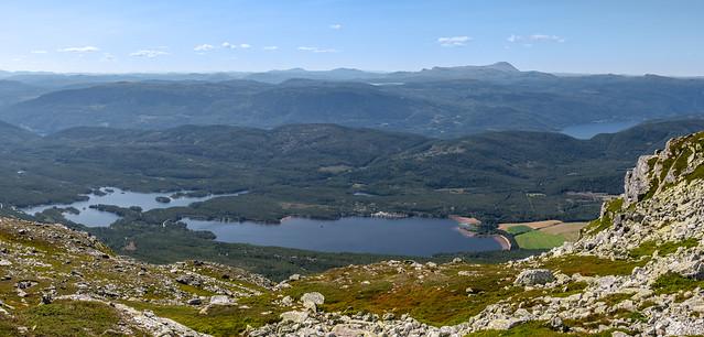 Sandvatn lake seen from Blefjell, Norway