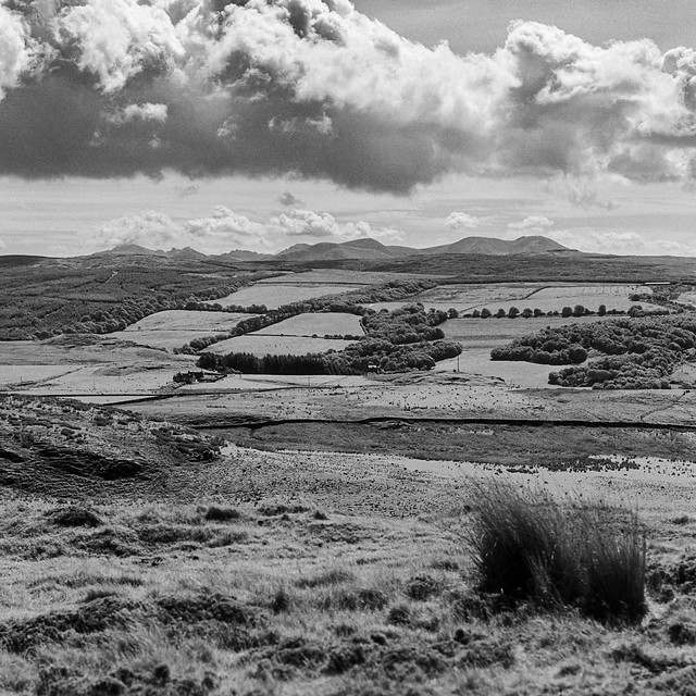 The mountains of Arran seen over the width of Kintyre