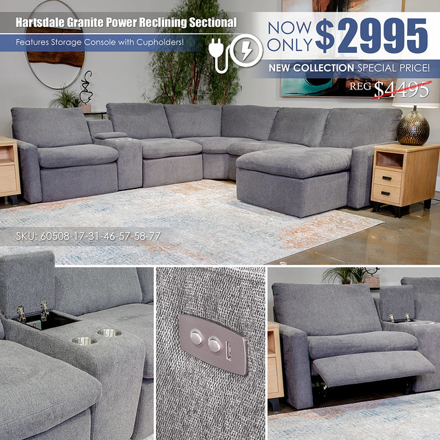 Hartsdale Granite Sectional with Console_60508-58-57-31-77-46-17