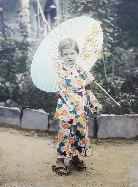 Sylvia Harding Klimanek in Japan, ca. 1933