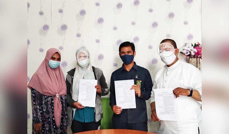 Mediasi Berhasil, Perkara Cerai Gugat Berhasil Damai Di Pengadilan Agama Binjai   (23/7)