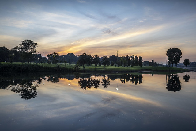 Dawn Clouds & Reflections at Lower Seletar Reservoir