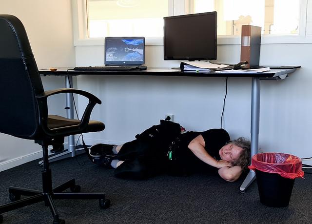 108) at work, sleeping under your desk