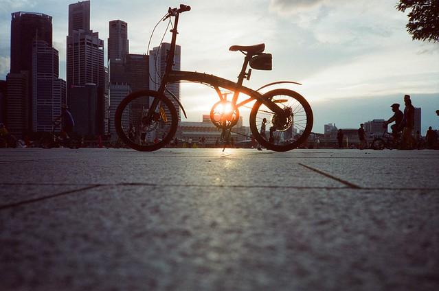 city ride sunset