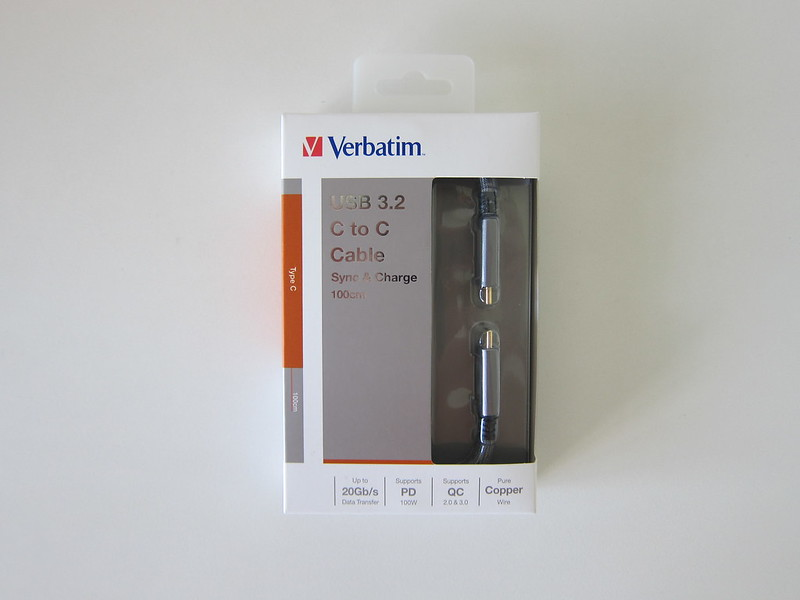 Verbatim Sync & Charge USB-C Cable - Box Front