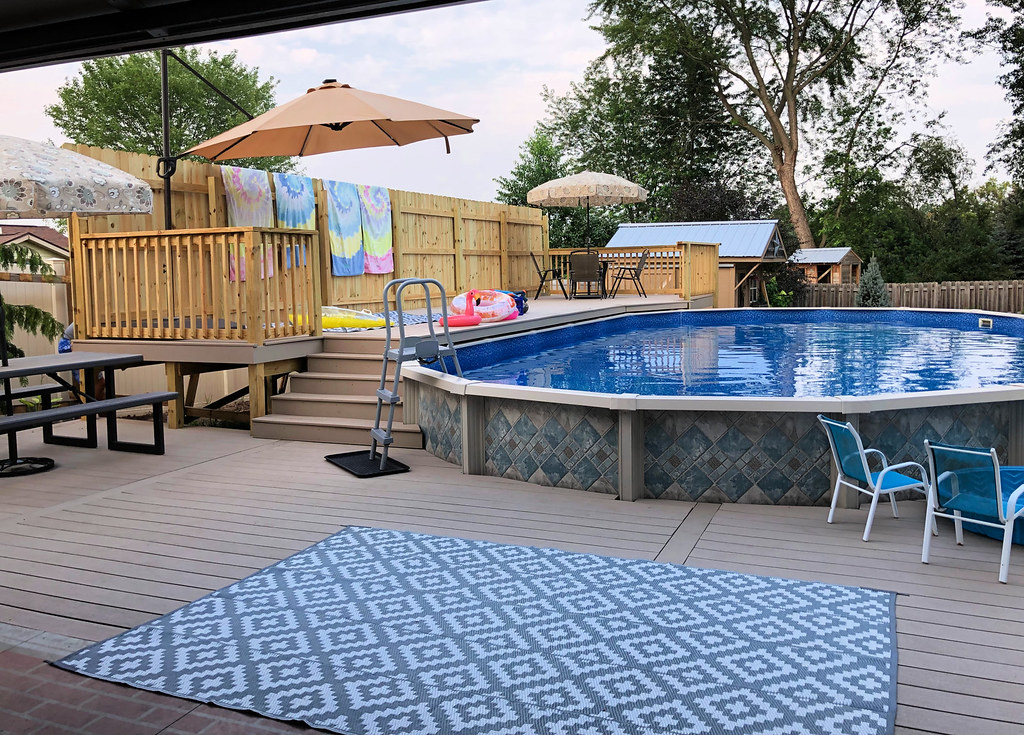 our new pool and deck area