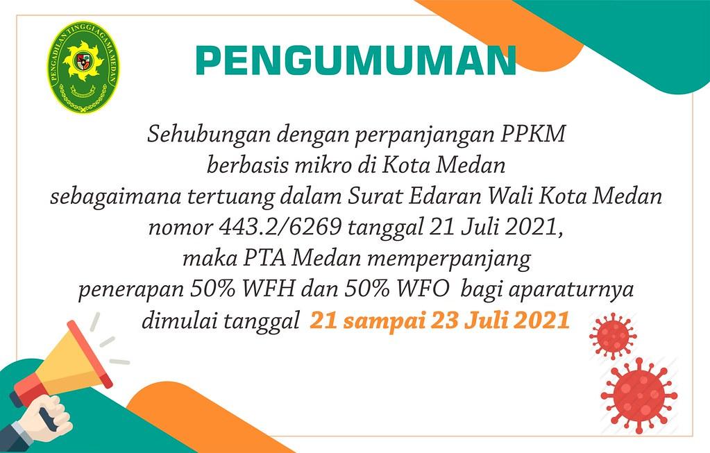 PTA Medan Perpanjang Penerapan WFH dan WFO Selama PPKM Berbasis Mikro